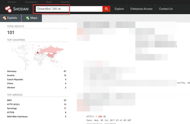 shodan search_